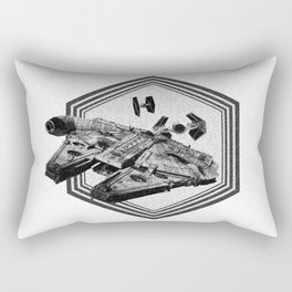 Millennium Falcon Art - StarWars Dot-work Pointillism Fan Art Rectangular Pillow