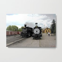 In the Passing Lane at Chama Depot Metal Print