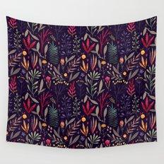 Botanical pattern Wall Tapestry