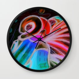"""L'art pour l'art"" (digital medium) Wall Clock"