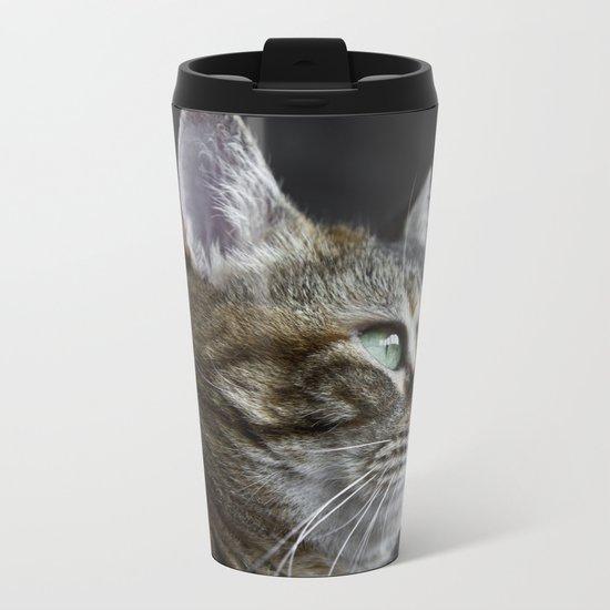 Cat portrait Metal Travel Mug