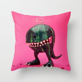 Melon-Rex Throw Pillow