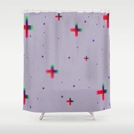 Pixel Stars Shower Curtain