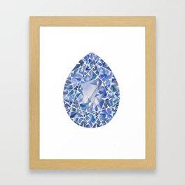Blue Pear Gem Framed Art Print