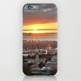 View of San Francisco Bay Area at Sunset from UC Berkeley iPhone Case