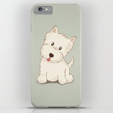 Westie Dog Illustration Slim Case iPhone 6s Plus
