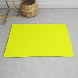 SAFETY YELLOW neon solid color Rug