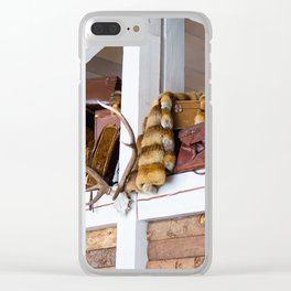 Mountain chalet Clear iPhone Case