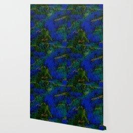 Peacock crystal mosaic Wallpaper