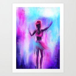 Lost in waves of colors Art Print