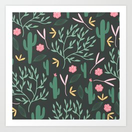 Cactus Garden Summer Art Print
