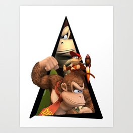 Youtriangle ∆ Donkey Kong Art Print