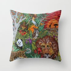 Planet Earth The Art of God  Throw Pillow