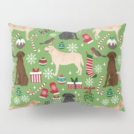 Labrador retrievers christmas festive holiday gifts for dog lover in your life dog breeds custom art Pillow Sham