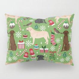 Labrador retrievers christmas festive holiday gifts for dog lover in your life dog breeds custom art Pillow Sham