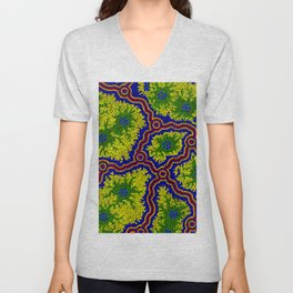 Aboriginal Art Authentic - Grasslands Unisex V-Neck