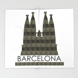 Sagrada Familia Throw Blanket
