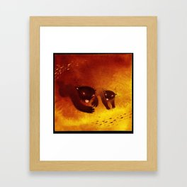 Polar bears swimming Framed Art Print