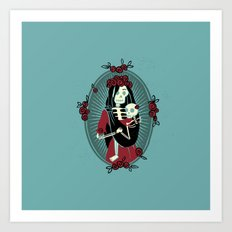 Skeleton Mother & Child - Dia de los Muertos Art Print