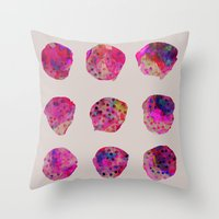 georgiana paraschiv Throw Pillows featuring Variations by Georgiana Paraschiv