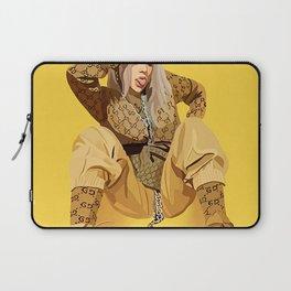 Billie Eilis-h Illustration Style Music Poster Laptop Sleeve