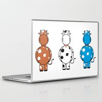 cows Laptop & iPad Skins featuring COWS by thestalewhale