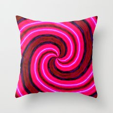 Abstract Pink Modern Throw Pillow
