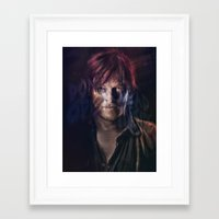 daryl dixon Framed Art Prints featuring Daryl Dixon by Guilherme Marconi