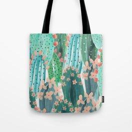 Colorful watercolor cacti Tote Bag