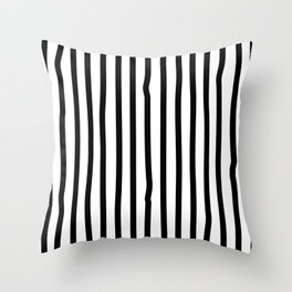 Black and white drawing stripes - striped pattern Throw Pillow