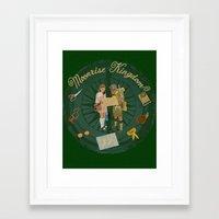 moonrise kingdom Framed Art Prints featuring Moonrise Kingdom by KelseyMicaela