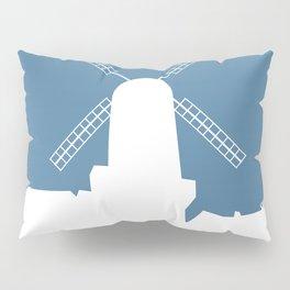 Kinderdijk , Netherlands windmill vacation poster. Pillow Sham
