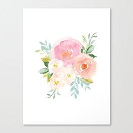 Sweet Pink Blooms (Floral 02) Canvas Print