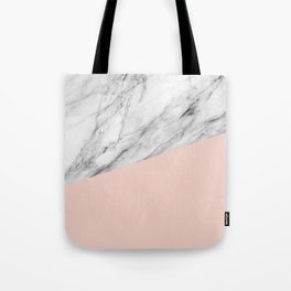 Marble and Pale Dogwood Color Tote Bag