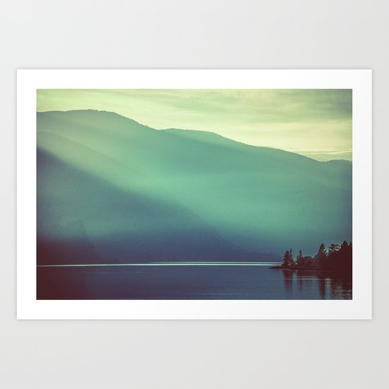 Summer at the Lake Turquoise Art Print