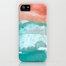 The Break - Turquoise Sea Pastel Pink Beach III iPhone Case