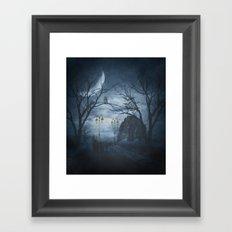 Two Lone Wolves Framed Art Print