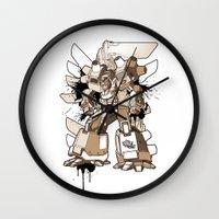 gundam Wall Clocks featuring Gundam Style by RiskeOne opc