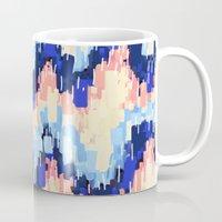rush Mugs featuring Rush (Blue) by Jacqueline Maldonado