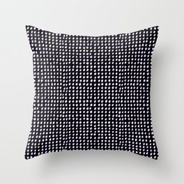 Dots (Shadowed) - White x Lavender Throw Pillow