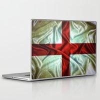 england Laptop & iPad Skins featuring England flag. by DesignAstur