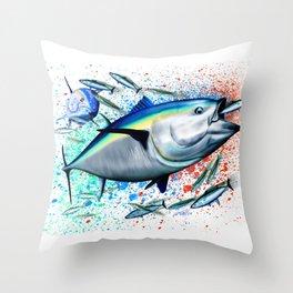 Bluefin Blitz - Bluefin Tuna Throw Pillow