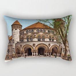 Osborn Hall, Yale College, New Haven, Connecticut, 1901 Rectangular Pillow