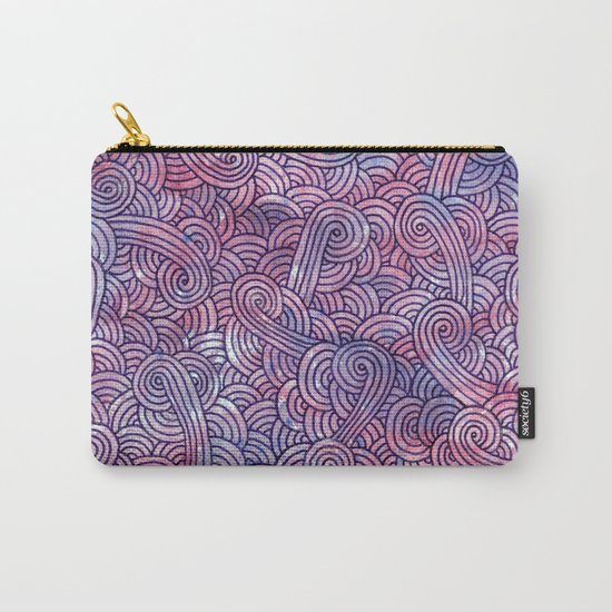 Purple swirls doodles Carry-All Pouch
