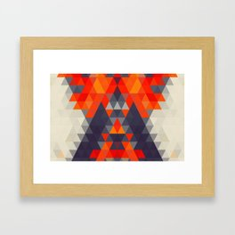Abstract Triangle Mountain Framed Art Print