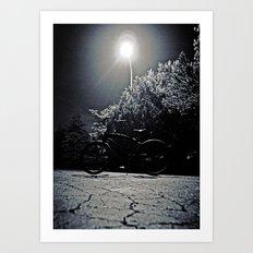Beach cruiser at night Art Print