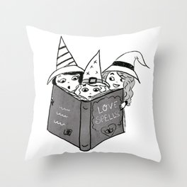 Little witches Throw Pillow