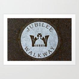 Queen's Jubilee Walkway Silver Walking Path near Buckingham Palace London England Art Print