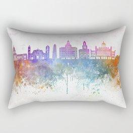 Havana V2  skyline in watercolor background Rectangular Pillow