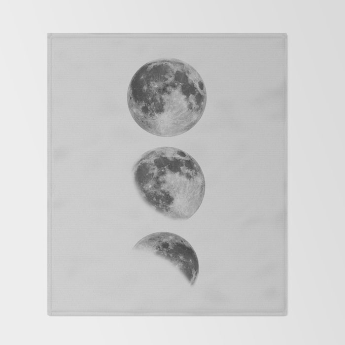 Moon Phase Wall Art Moon Home Decor Moon Phases Nursery Decor Poster Minimalist Print Gothic Boho Throw Blanket